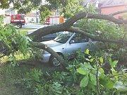 Následky silné bouřky, která se přehnala nad Olomouckým krajem nad ránem ve čtvrtek 10. srpna 2017