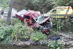 Vážná nehoda se odehrála v pátek  na silnici z Bělkovic-Lašťan v Bělkovickém údolí. Zranili se při ní dva lidé