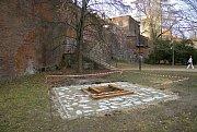 Základy pro novou zvoničku v Bezručových sadech v Olomouci