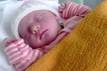 Alexandra Klimčáková, narozena 21. června v Olomouci, míra 50 cm, váha 3445 g