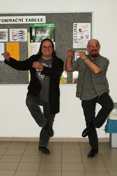 Dušan Neumann a Ian Anderson z Jethro Tull