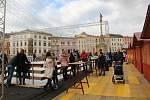 Kluziště na Dolním náměstí v Olomouci