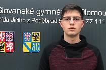 Vojtěch Dienstbier ze Slovanského gymnázia v Olomouci