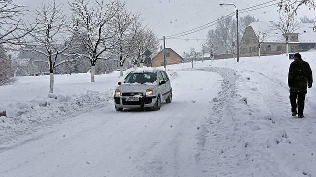 Sněhová nadílka 28. 1. 2019 - Hraničné Petrovice