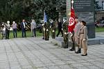 Pietní akt k 83. výročí úmrtí prezidenta T. G. Masaryka na Žižkově náměstí v Olomouci. 14. září 2020