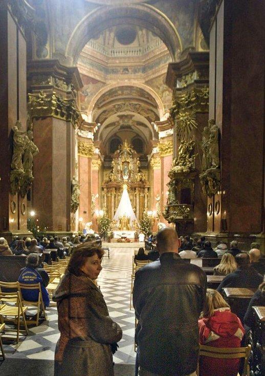 Půlnoční mše v chrámu sv. Michala v Olomouci