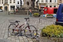Olomoucké Dolní náměstí a stojany na kola