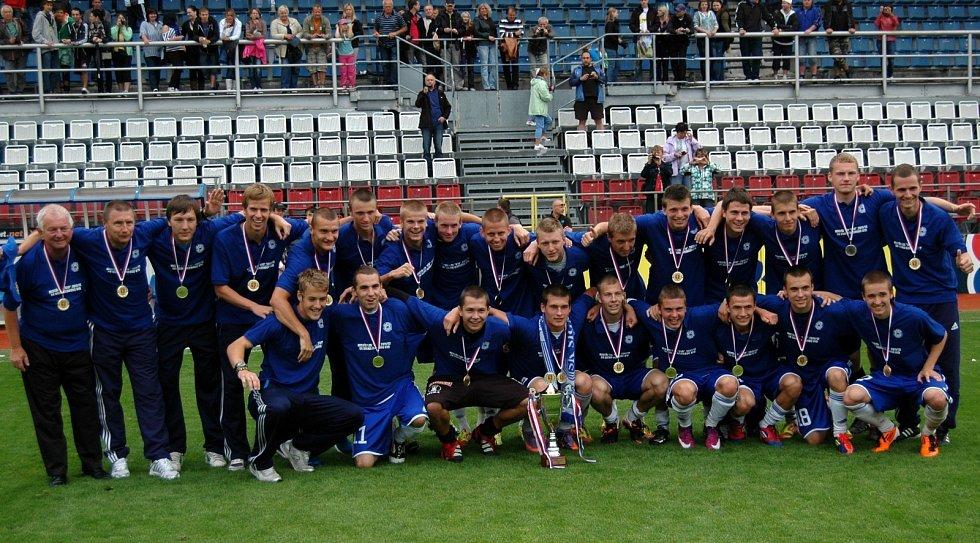 Vítězný tým Sigma U19, který vyhrál dorosteneckou ligu