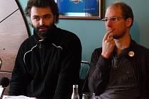 Lukáš Rieger (vlevo) vystudoval na JAMU herectví, Lubomír Sůva dramaturgii.