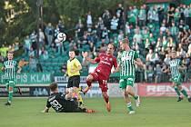 FC Bohemians Praha 1905 - SK Sigma Olomouc 2:0. Pablo González (v červeném)