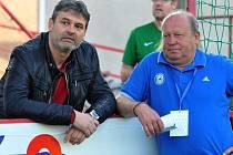 Sportovní manažer Sigmy Ladislav Minář (vlevo) a trenér Leoš Kalvoda