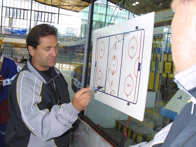 Trenér Petr Fiala.