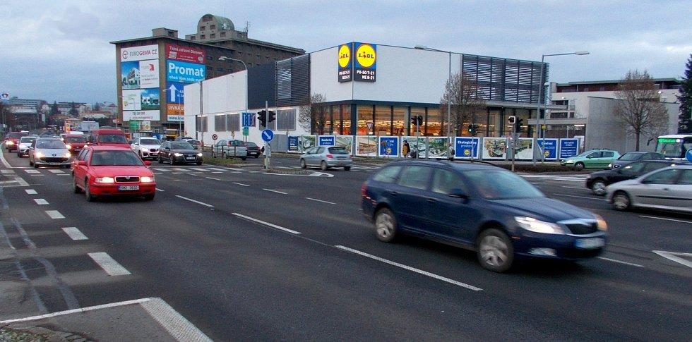 Přestavěný supermarket Lidl ve Velkomoravské ulici v Olomouci před otevřením. 8. prosince 2020