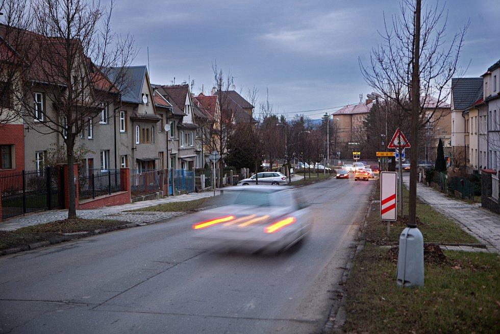 Erenburgova ulice v OlomouciErenburgova ulice v Olomouci před opravou v lednu 2019