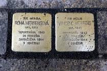 Vkládání dalších Kamenů zmizelých do olomouckých chodníků