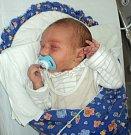 Filip Poštulka, Mohelnice, narozen 25. ledna ve Šternberku, míra 48 cm, váha 3020 g.