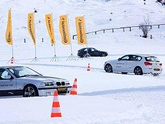Testování zimních pneumatik Continental v alpských podmínkách rakouského Schladmingu