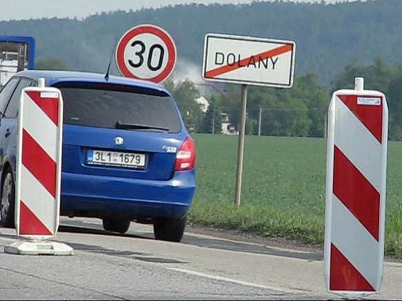 Omezení na tahu Olomouc - Šternberk v Dolanech
