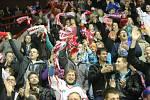 Fanoušci Mory na postupovém zápase Olomouce s Mladou Boleslaví