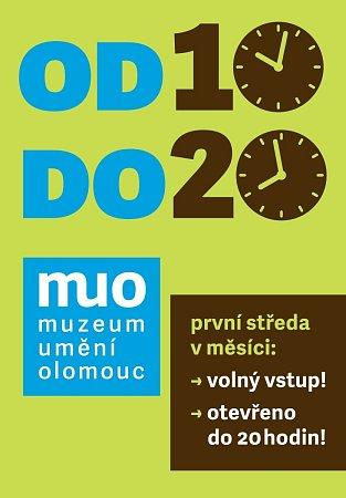 Plakát olomouckého Muzea umění lákající na volné středy