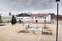 Zrekonstruované Zámecké náměstí  ve Velké Bystřici