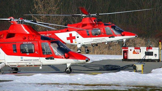 Vrtulníky letecké záchranky v Olomouci Agusta A109K2