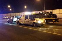 Místo tragické nehody v Tovární ulici v Olomouci