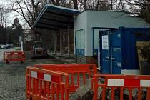 Čerpací stanice v Krapkově ulici v Olomouci prochází rekonstrukcí