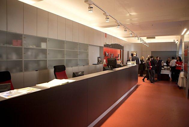 Rekonstruované a rozšířené infocentrum v podloubí olomoucké radnice