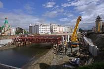 Stavba mostu na Komenského ulici v Olomouci - 27. května 2019