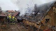 Požár rodinného domu v Bílé Lhotě