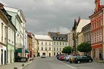 Radniční ulice ve Šternberku, městskou galerii zde již nenajdete