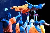Vystoupení mnichů z legendárního kláštera Shaolin. Ilustrační foto
