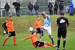 Juniorka Sigmy (v oranžovém) proti Mladé Boleslavi