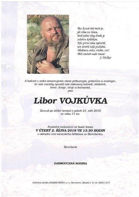 Poslední rozloučení smalířem Liborem Vojkůvkou bude  2.října  ve 13:30 na městském hřbitově ve Šternberku.