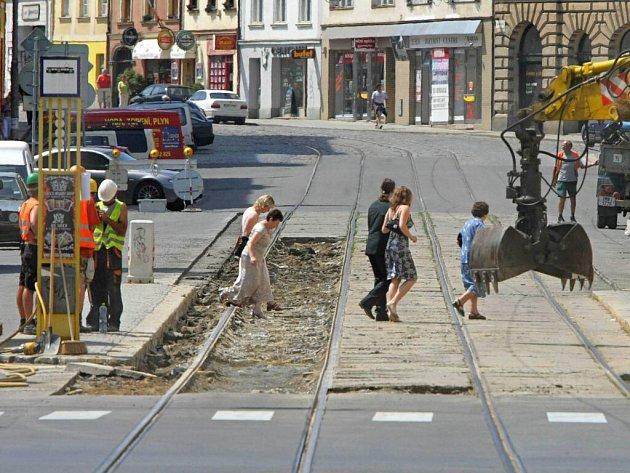Třídu 1. máje v centru Olomouce čeká velká oprava. Ilustrační foto