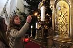 Betlémské světlo v kostele  sv. Filipa a Jakuba na Nových Sadech