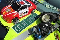 Model policejního auta skrýval téměř půl kilogramu pervitinu