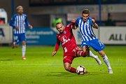 Zápas 10. kola první fotbalové ligy mezi týmy FC Slovan Liberec a SK Sigma Olomouc se odehrál 29 září na stadionu U Nisy v Liberci. Na snímku vpravo je Tomáš Malinský.