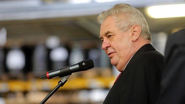 Prezident Miloš Zeman na návštěvě Olomouckého kraje. Ilustrační foto