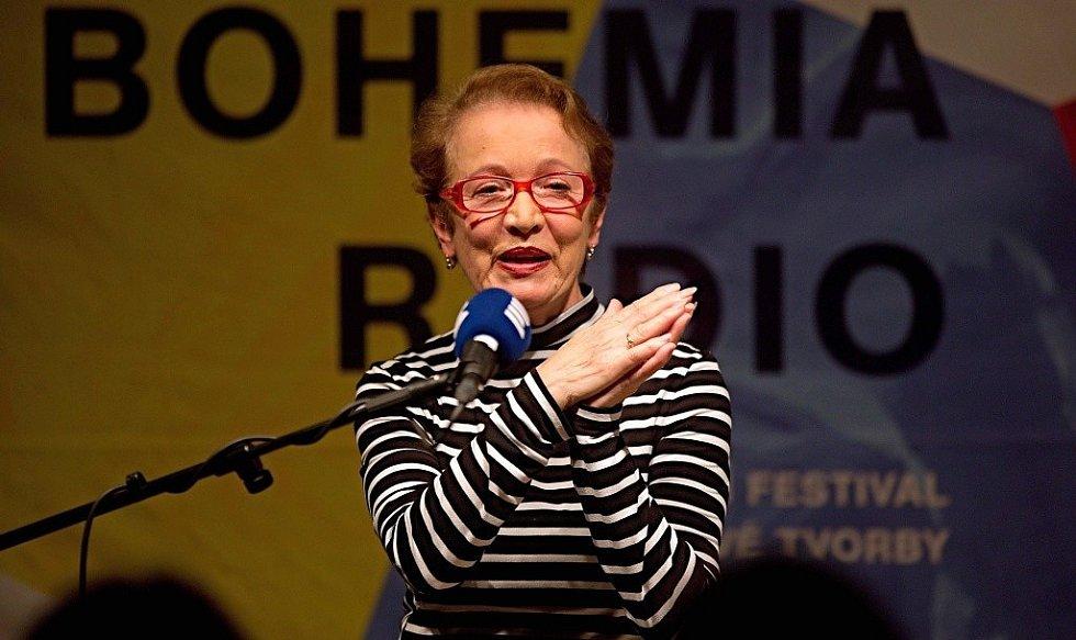 Hana Maciuchová na festivalu Prix Bohemia Radio v Olomouci v roce 2016