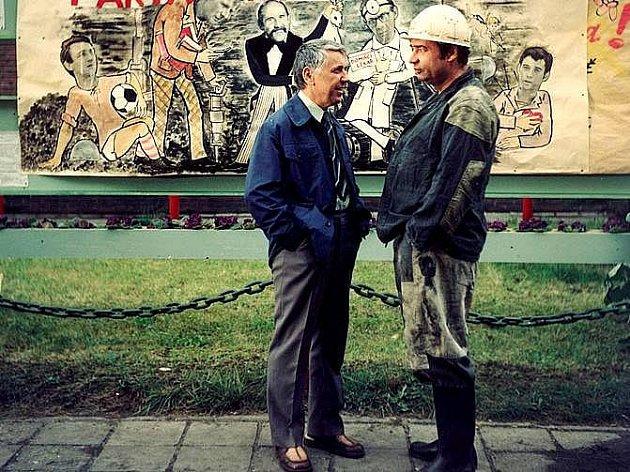 Václav Babka s Vladimírem Menšíkem ve filmu Parta hic