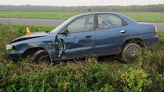 Nehoda opilého šoféra mezi Štěpánovem a Chomoutovem