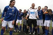 Hráči Framu Reykjavík se radují z vítězství