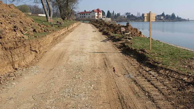 Stavba cyklostezky podél severního břehu plumlovské přehrady - 18. 3. 2020