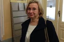 Učitelka Vanda Fabianová u olomouckého okresního soudu