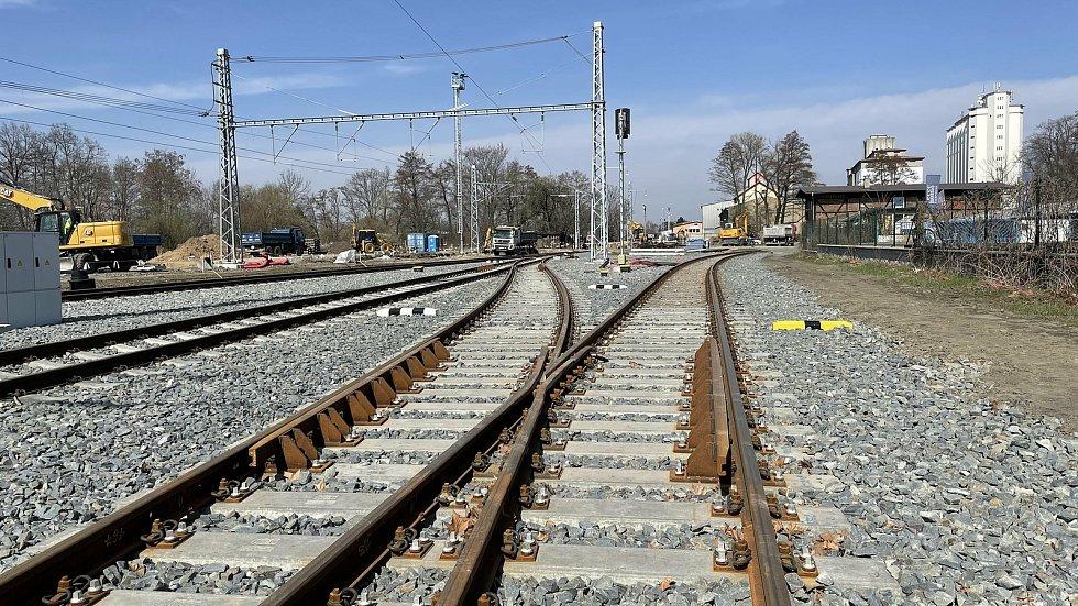 Železniční trať č. 290 v úseku Šternberk–Uničov prochází zásadní přestavbou, Šternberk, 1. dubna 2021