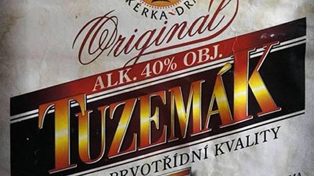 Jedna z etiket lahví, ve kterých byl nalezen závadný alkohol – možné padělky