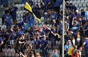 Fanoušci Zlína na Andrově stadionu