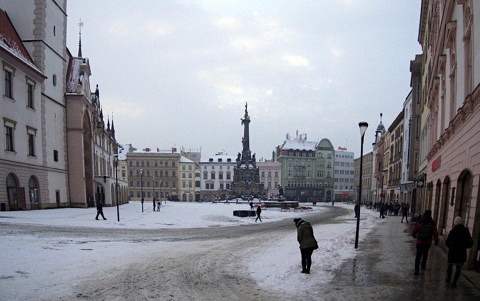 Sněhová nadílka 28. 1. 2019 - Olomouc